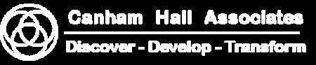 canham hall logo white
